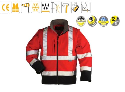 Softshell piros/kék kabát 70680-83