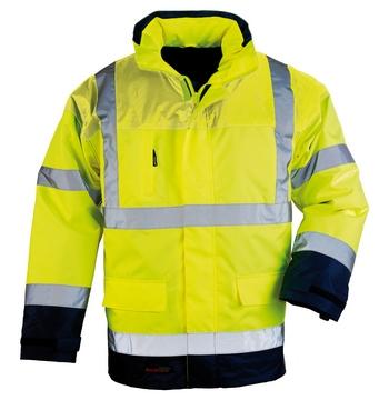 AIRPORT 4/1 kabát, dzseki  (7AIFY vagy 7AIFO) sárga/kék, lélegző Oxford Breathane : polár mellény+polár ujjak+dzseki+kabát