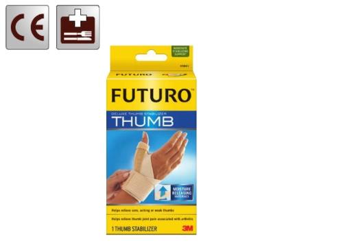 Hüvelykujjrögzítő, sérült ujj megtámasztása két ponton, alumínium merevítőkkel