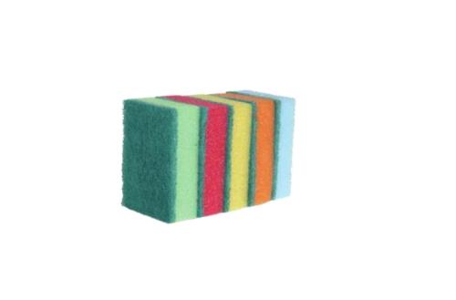 Prima™ normál méretű, vegyes színű, konyhai dörzsi, 5 db