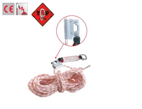 TopLock 2012 szett:  zuhanásgátló, 20m szövött kötél (12mm), karabiner cikkszám:71354