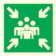 Menekülési útvonalat jelző táblák