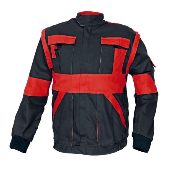 MAX kabát 260 g/m2 fekete/piros