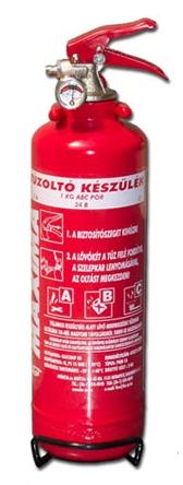 1 kg ABC Porral oltó tűzoltó készülék PKM1A