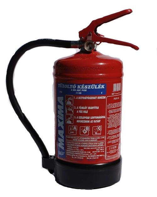 4 kg ABC porral oltó tűzoltó készülék PKM4A