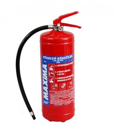 6 kg ABC porral oltó, poroltó tűzoltó készülék PKM6C