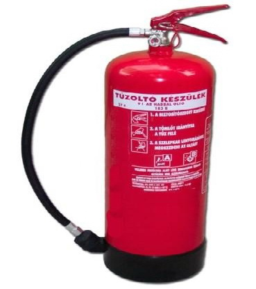 9 kg ABC habbal oltó tűzoltó készülék HKM9