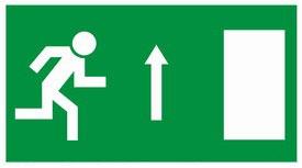 Kijárat előre menekülési útvonalat MJ002 jelölő utánvilágítós tábla öntapadós