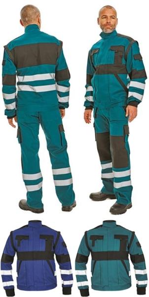 Max reflex fényvisszaverő csíkokkal munkaruha dzseki, lecipzározható ujjal C03010379