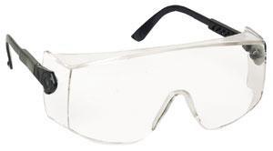 Lux Optical Verilux állítható szárú és dőlésszögű munkavédelmi szemüveg, víztiszta lencsével, oldalvédővel, kisebb S-es méret 60340-es